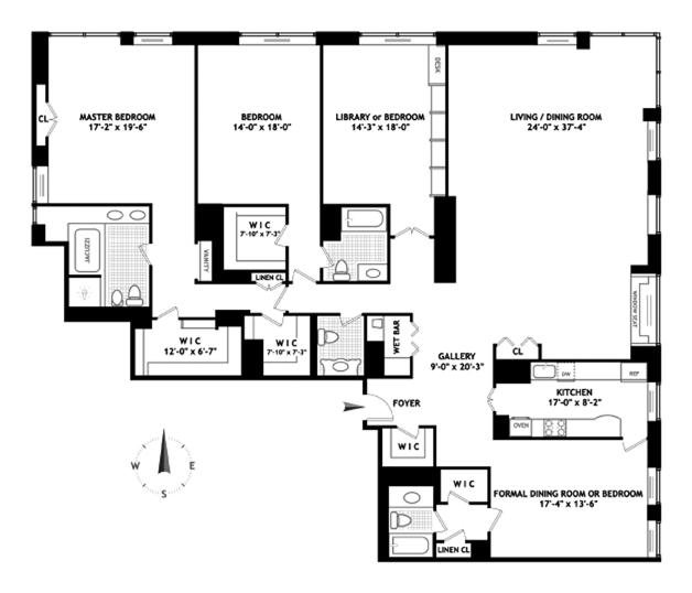 4 Bedroom Apartments Nyc: 15 West 53rd Street Rentals