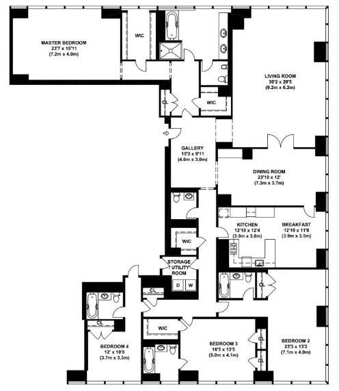 24 Manhattan Apartment Floor Plans The 11 Most: 151 East 58th Street Rentals