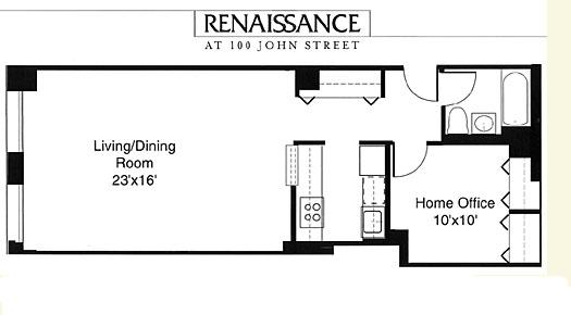 100 john street rentals the renaissance apartments for for Renaissance homes floor plans