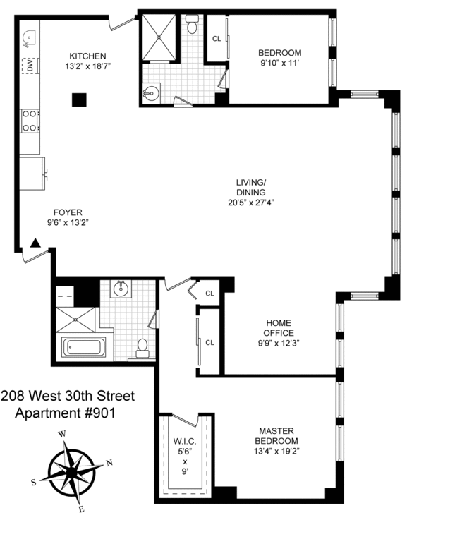 208 west 30th street apartments for rent in chelsea for Apartment floor plans new york city