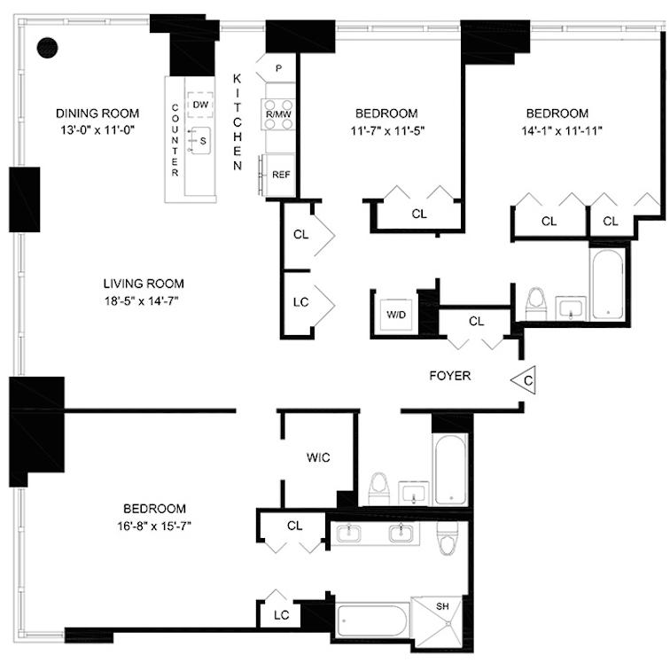 160 West 62nd Street Rentals Hawthorn Park Apartments