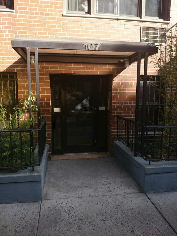 The Building's entry at 105-107 Saint Marks Place in NYC