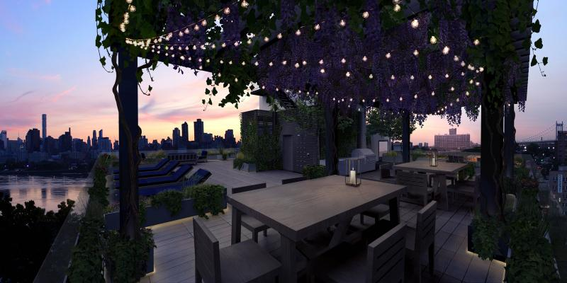 Rooftop Terrace at 11-07 Welling Court in Astoria