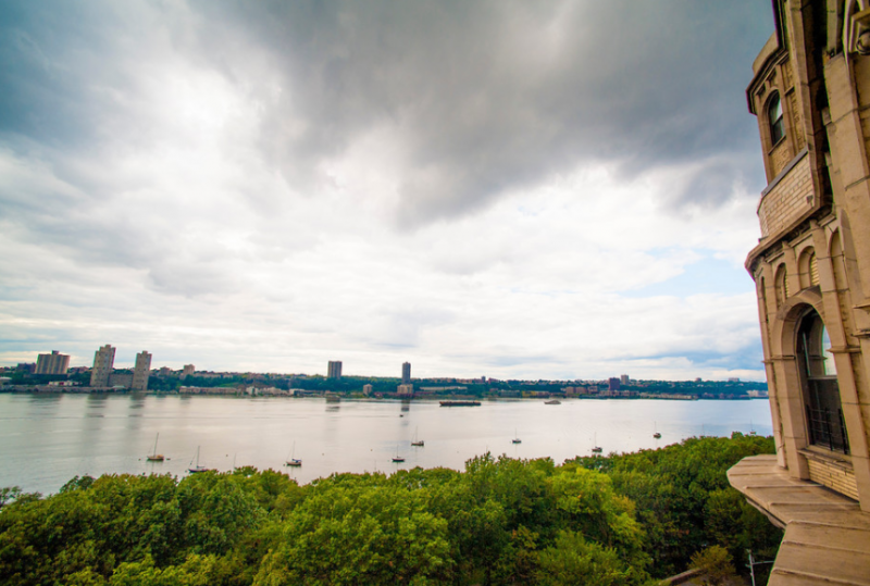 Stunning views from the building at 125 Riverside Drive