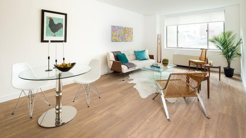 Livingroom at Cliff Tower in NYC - Condos for rent