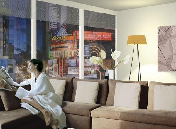 1600 Broadway Living Room - Manhattan Condos for Rent