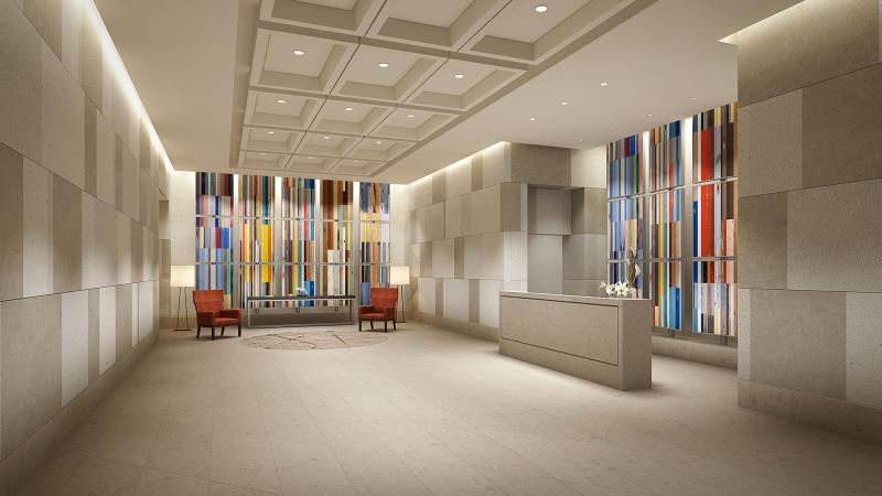 The Building's Lobby at 160 Madison Avenue in NYC