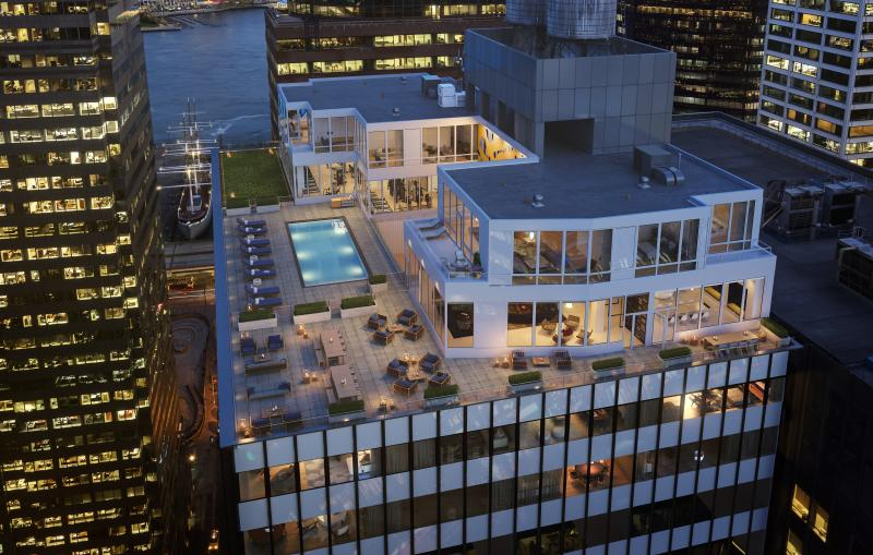 Rooftop Deck at 180 Water Street in NYC - Apartments for rent