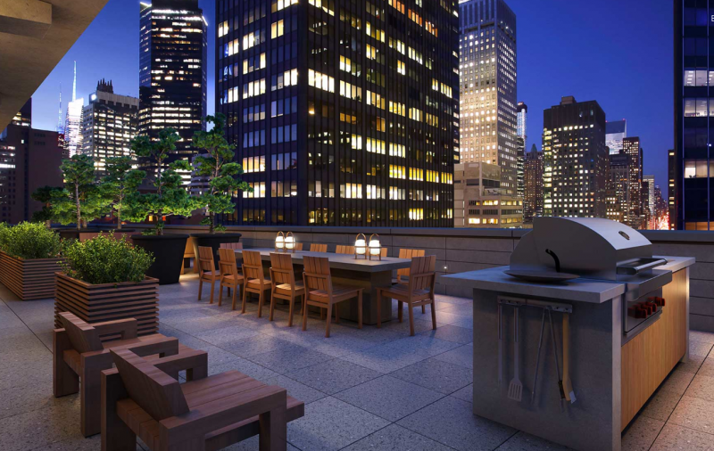 Rooftop Terrace at Frontier in Murray Hill - Apartments for rent