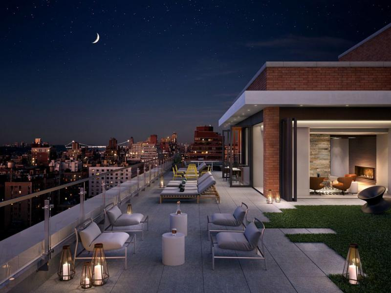 Rooftop Louge at 222 West 80th Street - NYC Rental Apartments