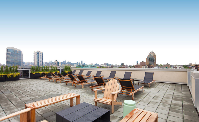 Rooftop Deck and view - 250 Bedford Avenue Condos