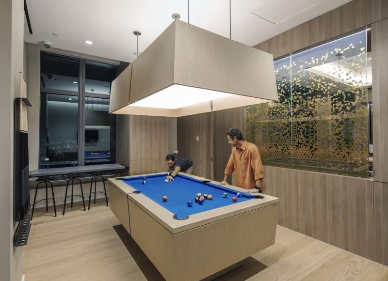 Billiards Room at 250 Ashland Place in Fort Greene