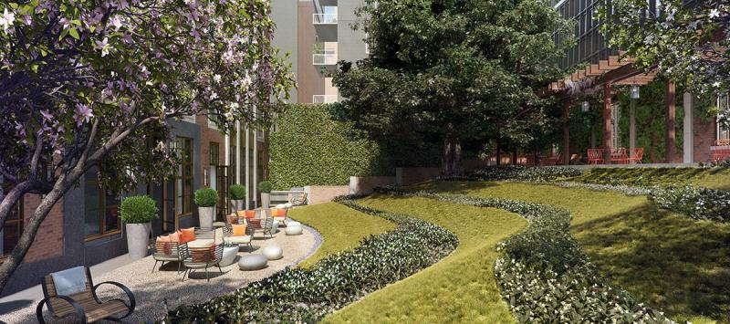 Courtyard at 261 Hudson Street in NYC - Apartments for rent