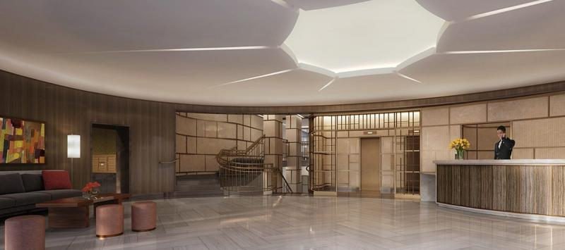 The Building's Lobby at 261 Hudson Street in Manhattan