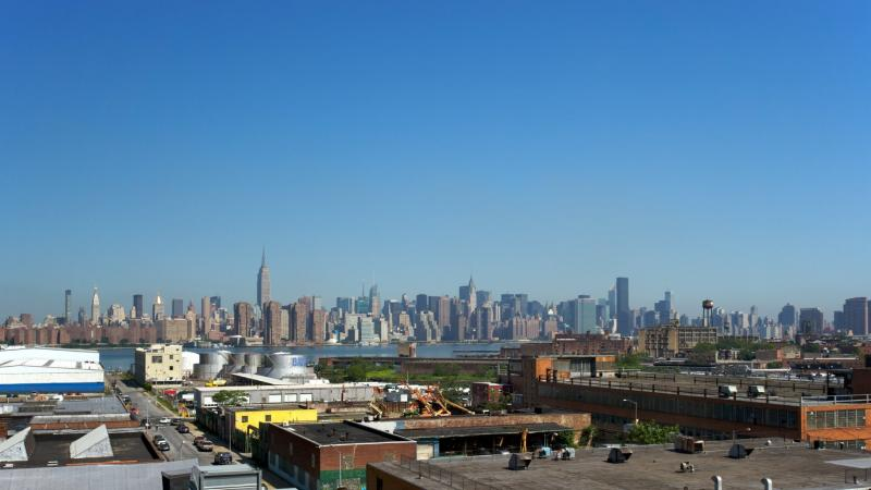 Stunning view from 34 Berry Street in Williamsburg