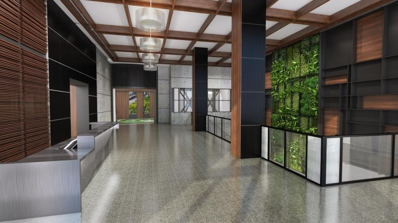 The building's lobby at 507 West 28th Street in NYC
