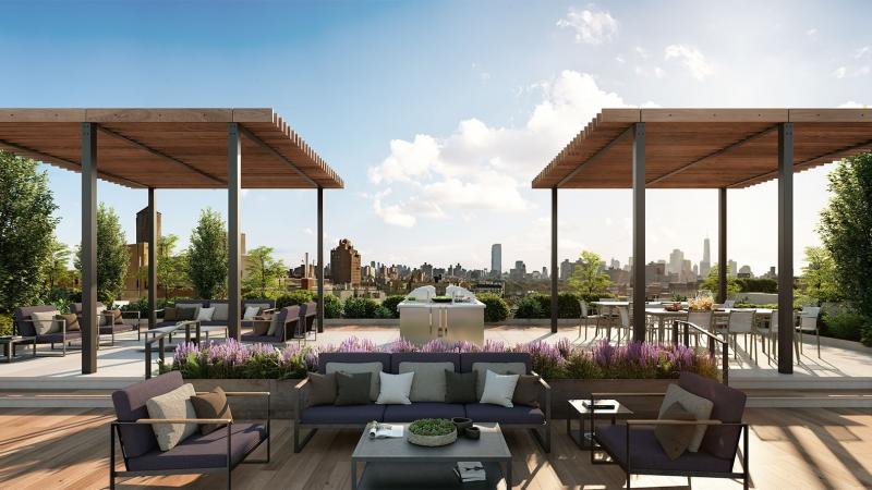 Rooftop Terrace at EVGB in East Village - Apartments for rent