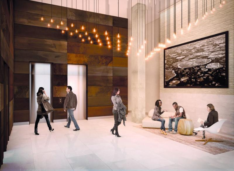 The Building's Lobby at 600 West 58th Street in NYC