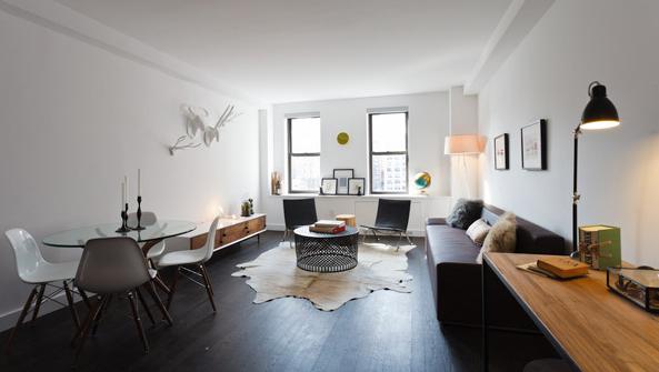Windermere West End - Living Room - Luxury Rentals Manhattan