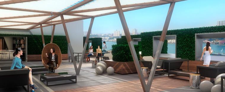 Windermere West End - Rooftop View - Manhattan Rentals