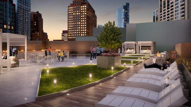 Rooftop Terrace at 70 Fleet in Brooklyn - Condos for rent