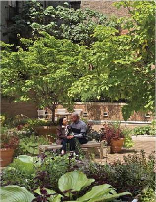 301 Elizbeth Street Courtyard - SoHo Rental Apartments