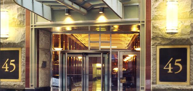 45 Wall Entrance  - Financial District Rental Apartments