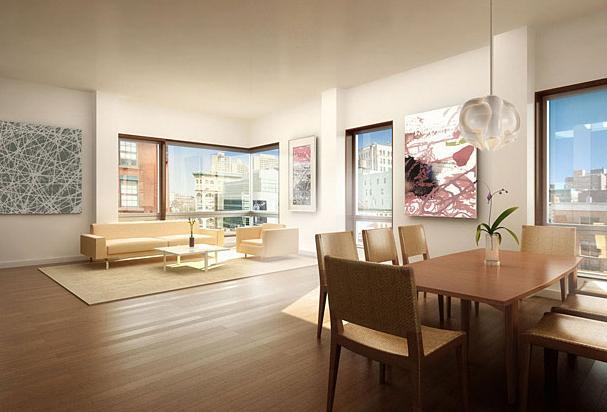 Living Room at 290 Mulberry Street - Luxury Rentals in NYC