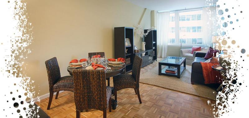 200 Water Street Living Room - Financial District Rental Apartments