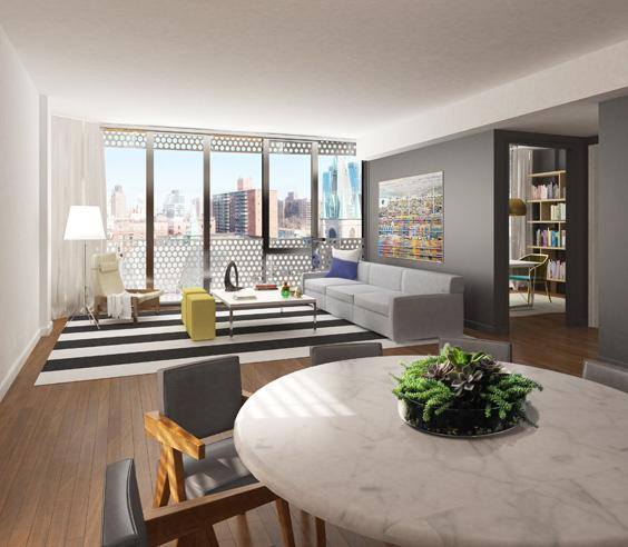 208 West 96th Street Living Room - Upper West Side Rental Apartments