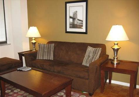 200 West 60th Street Living Room - Upper West Side Rental Apartments