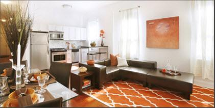 The Westbourne Living room - 601 West 137th Street apartments for rent