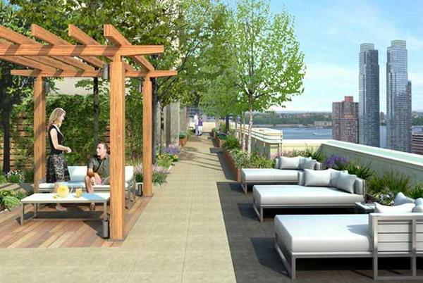 350 West 37th Street Sundeck – Clinton Rental Apartments