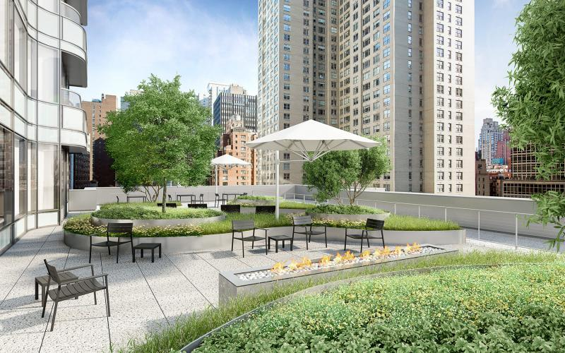 Rooftop Terrace at Aalto 57 in NYC - Apartments for rent