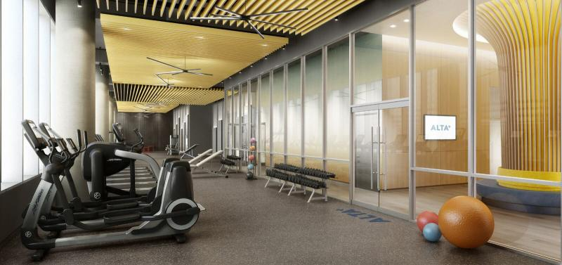 The Building's Fitness Center at ALTA LIC
