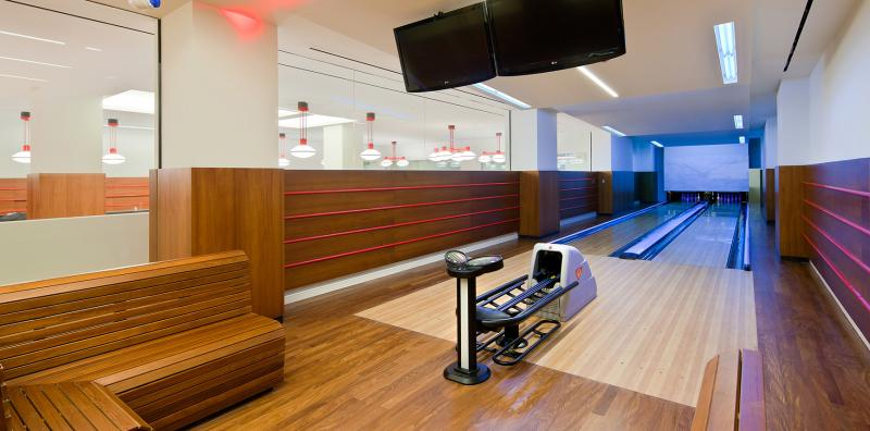 Wide variety of amenities at 70 Pine Street in NYC - Bowling Alley