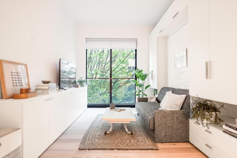 Living area at 335 East 27th Street in Kips Bay