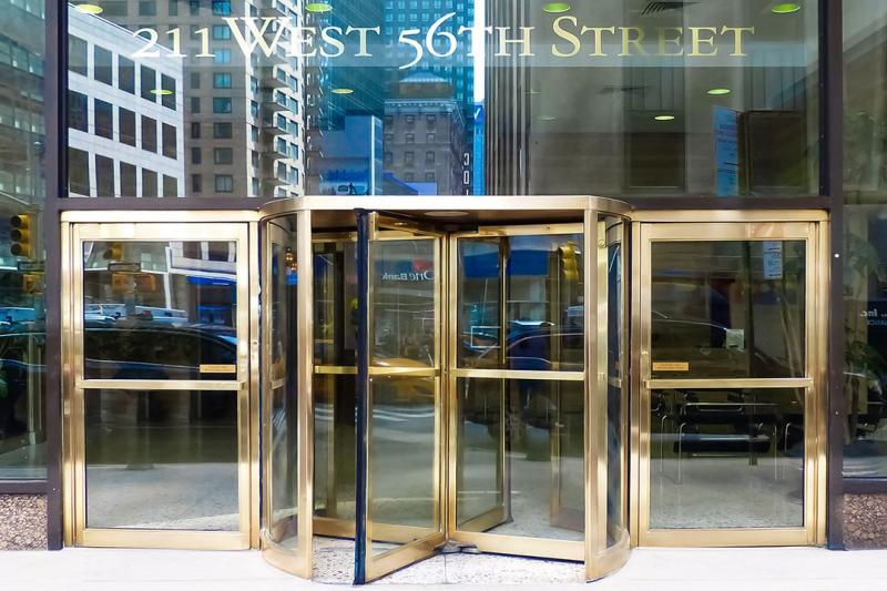 Entrance at 211 West 56th Street in Midtown West