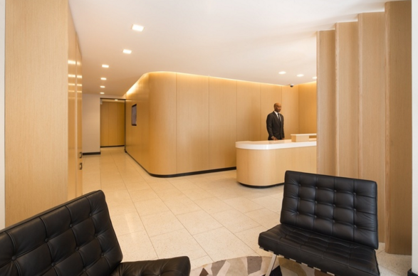 The Building's lobby at 15 Cliff Street in Financial District