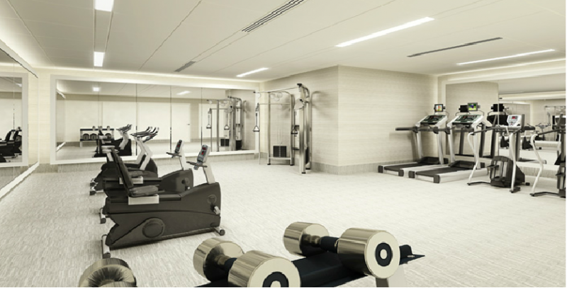 Fitness Center in the Wimbledon Apartment Building