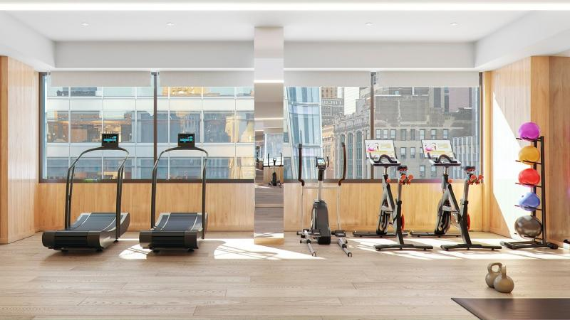 Fitness Room at ML House - 1050 Sixth Avenue