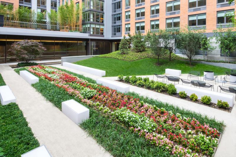 Garden Outside of 550 West 45th Street, Manhattan