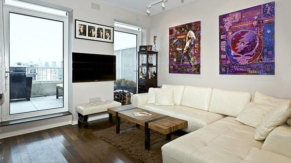 340 East 23rd Street Gramercy Building Luxury Rental NYC Living Room