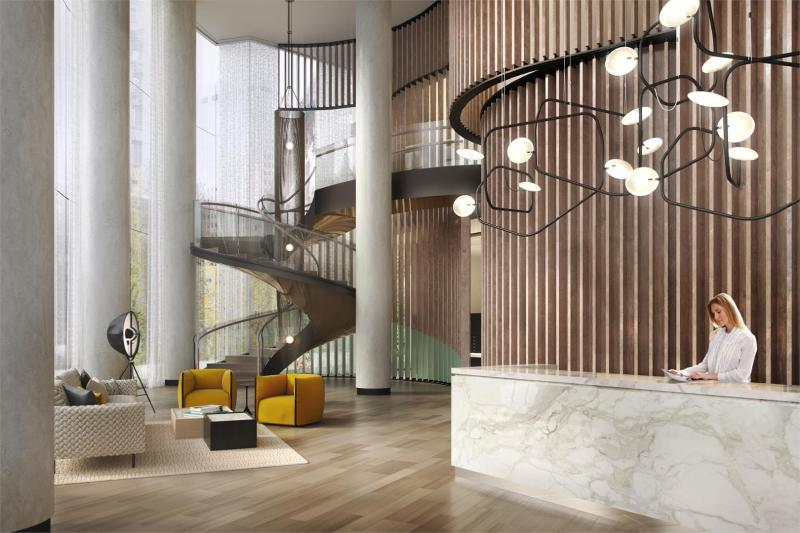 The Building's lobby at House 39 in Manhattan