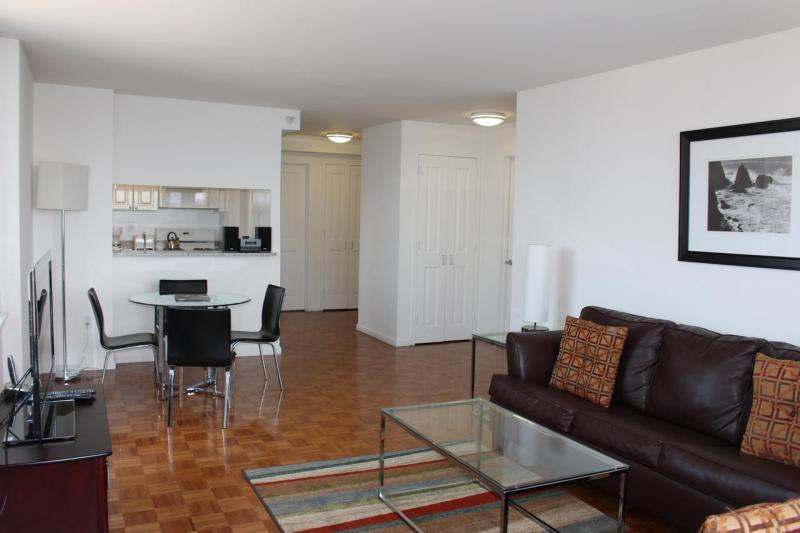 350 West 43rd Street Living Room - Clinton Rental Apartments