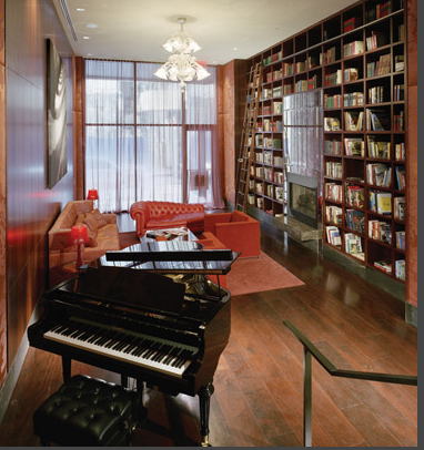 Library- Greenwich Club Residences-88 Greenwich Street