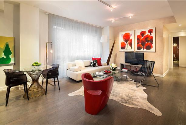 Living Room-Renwick Modern- condo for rent in Soho