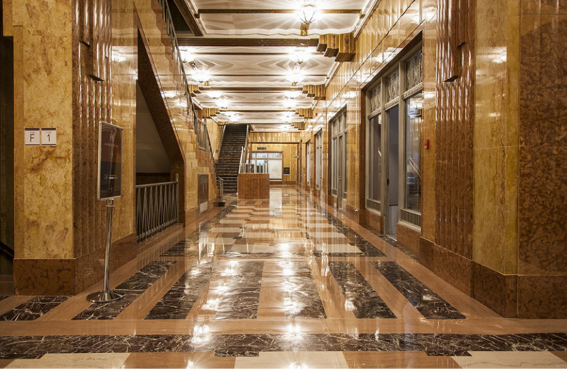 The Building's lobby at 70 Pine Street in Manhattan