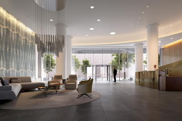 Lobby at Aro - 242 West 53rd Street