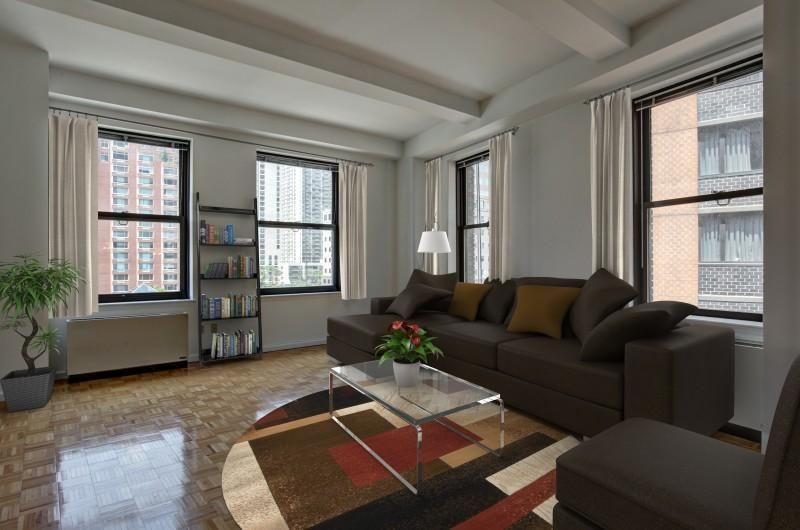 Living Room - Post Towers - Financial District - New York City Rentals